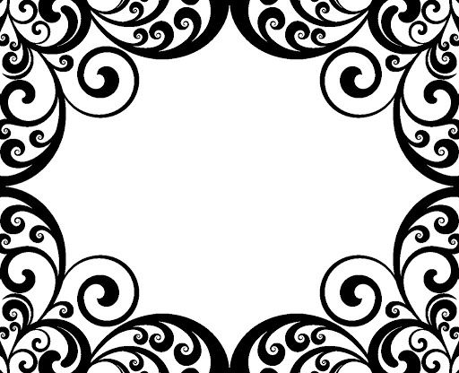Swirl Border Damask Pictures | Clip art, Drawing frames ...