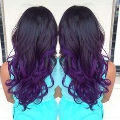 black and purple ombre hair - Google Search