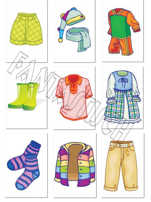 Играем до школы: Дидактический материал для дошкольника - Одежа, головные уборы, обувь