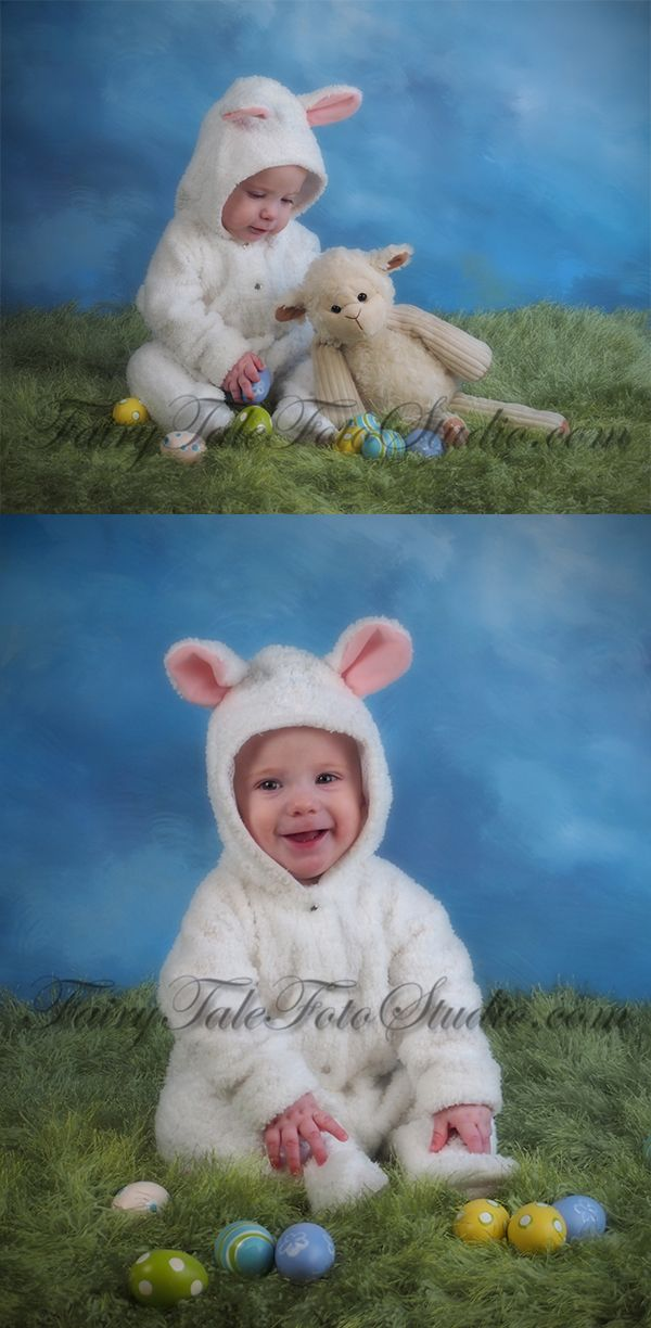 Just kids photography belated easter portraits 6 month old boy baby lamb 6 month old boy easter eggs sheep costume portrait poses negle Image collections