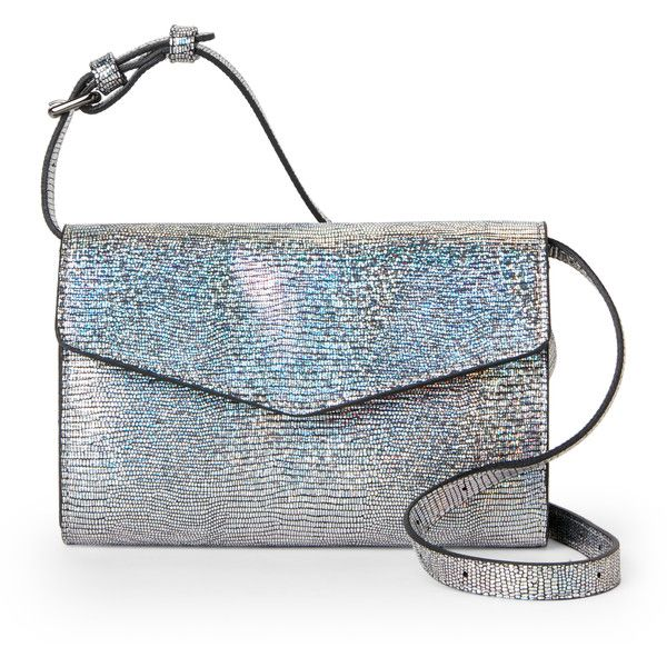 Street Level Silver Textured Crossbody/Belt Bag ($27) ❤ liked on Polyvore featuring bags, handbags, shoulder bags, metallic, white purse, silver shoulder bag, metallic crossbody, white crossbody and white handbag