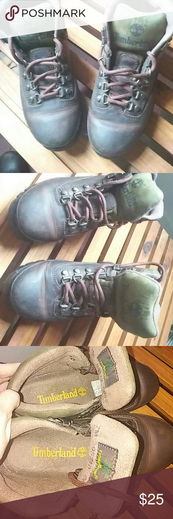 Timberland Hiking Boots 7M Genuine leather style#95310 0655 Timberland Shoes Combat & Moto Boots