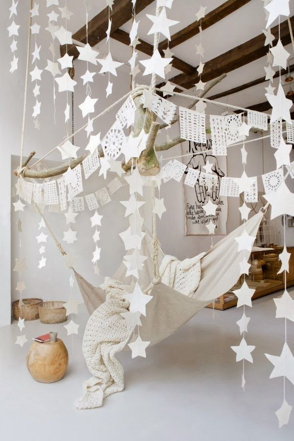 try a paper mobile/decor with my class papersVosgesparis: Stars & Paper Art at Sukha Amsterdam