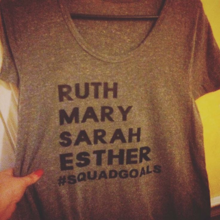 A personal favorite from my Etsy shop https://www.etsy.com/listing/560148369/biblical-squad-goals-ruth-mary-esther