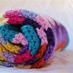 Crochet Baby Chevron Wool Blanket