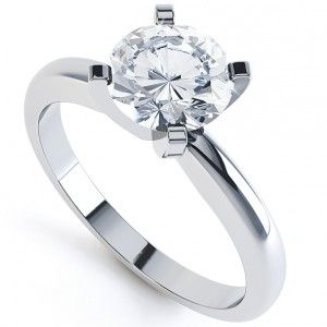 4 Claw Round Diamond Solitaire Engagement Ring. The Ava design is one of our simplest most popular solitaire ring designs available.