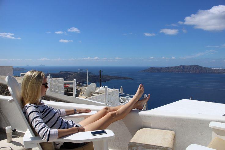 Santorini, view from Allure Suites, Firostefani