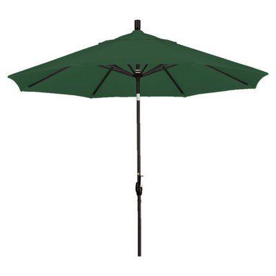 California Umbrella 9' Callista Indoor/Outdoor Market Umbrella Color: Hunter Green