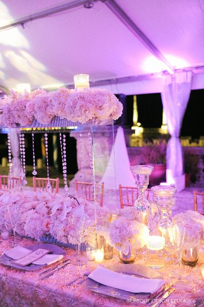 Floating Hydrangea Centerpiece With Hanging Crystals Wedding And Design By Tiffany Cook Events