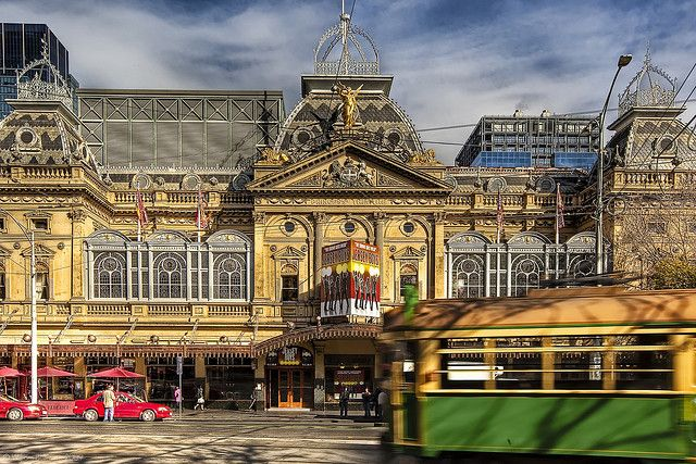 The Princess Theatre • Melbourne • Victoria. It was first erected in 1854 by actor-manager George Coppin, who would create Melbourne's theatre land. He already owned the Olympic (known as the 'Iron Pot') on the corner of Exhibition and Lonsdale Streets, installed gas lights in November 1855 into Astley's, and then he would go on to take over the Theatre Royal in Bourke Street. Photo by William Bullimore.