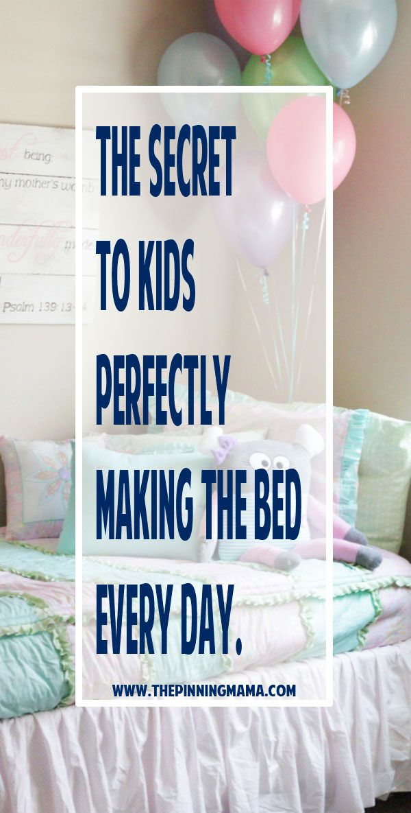 The SECRET to Kids Perfectly Making the Bed Every Day!