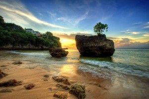 Padang Padang Beach, Bali, Indonesia. Small beach but very beautiful and private.