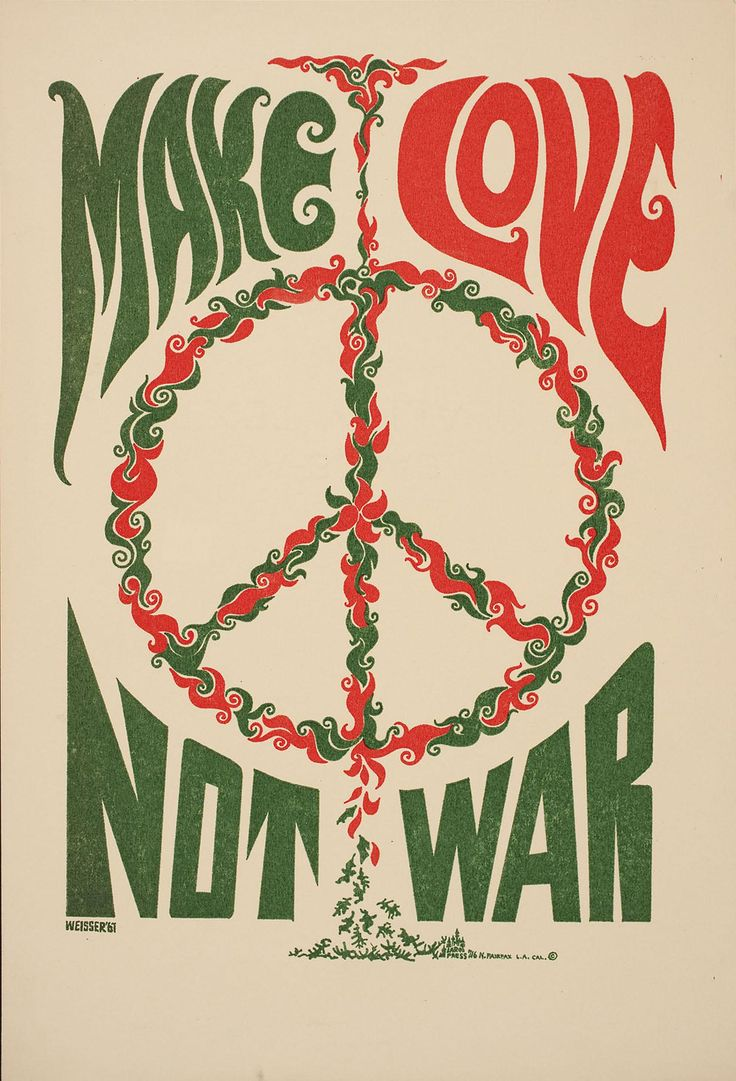 psychedelic-sixties:    Make Love Not War (1967)