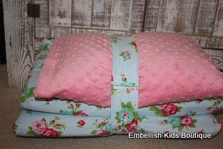 Kinder Nap Mat Cover - Delilah and Pink Minky - Ready To Ship. $38.00, via Etsy.