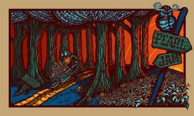 INSIDE THE ROCK POSTER FRAME BLOG: New Pearl Jam Posters for Sale...By Brad Klausen Manchester and Toronto