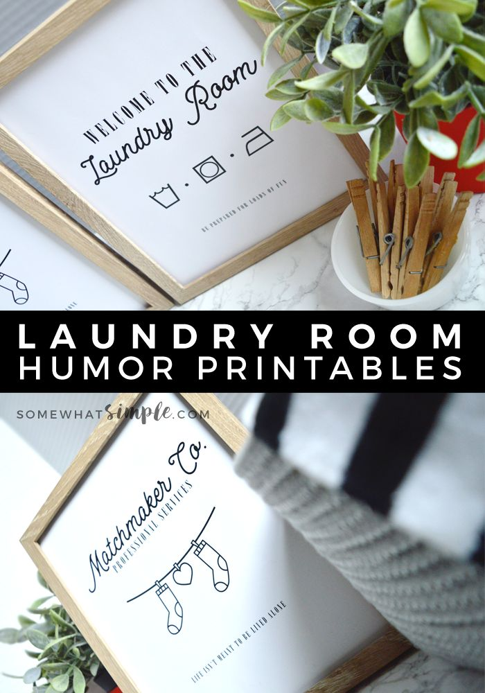 Lost Socks + Laundry Room Minimalist Printables | These minimalist Matchmaker Co. + Welcome prints are perfect for any style laundry room! Place our Lost Socks Print by a basket to keep those single ladies happy until they can find a mate, and our Laundry Room Print to welcome anyone who's ready for some good, clean fun! #StayFresh #ad
