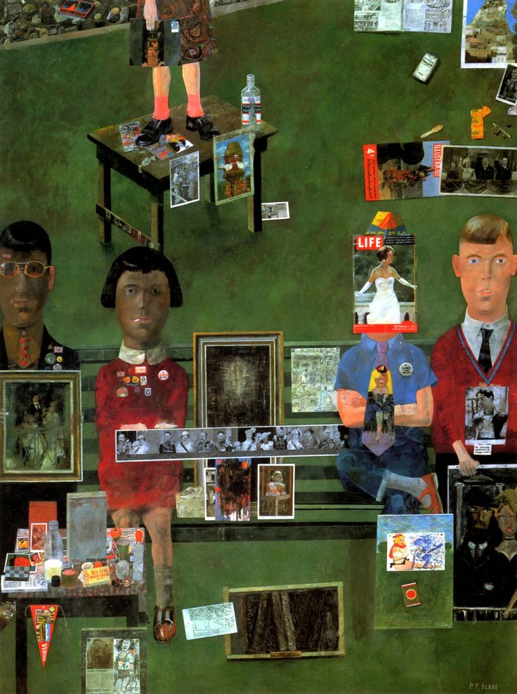 On the balcony, Peter Blake, 1955-1957