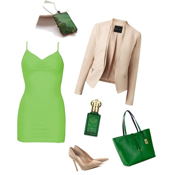 Fresh green by artemisfantasy on Polyvore featuring BKE, Gianvito Rossi, Lauren Ralph Lauren and Clive Christian