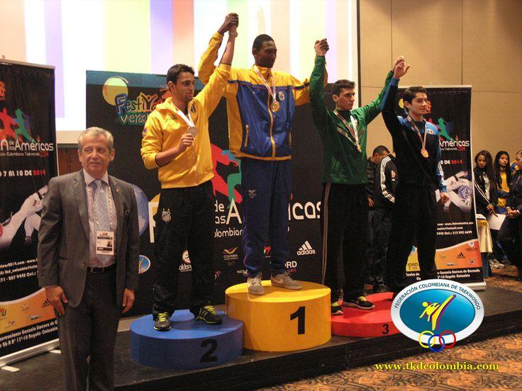 Colombia y Mexico se hicieron sentir arriba del podio.