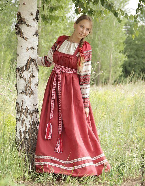 Модель русского сарафана с лифом