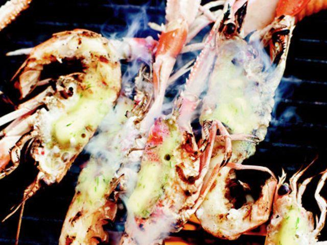 Havskräftor med citron- och dragonsmör (kock Christian Hellberg)