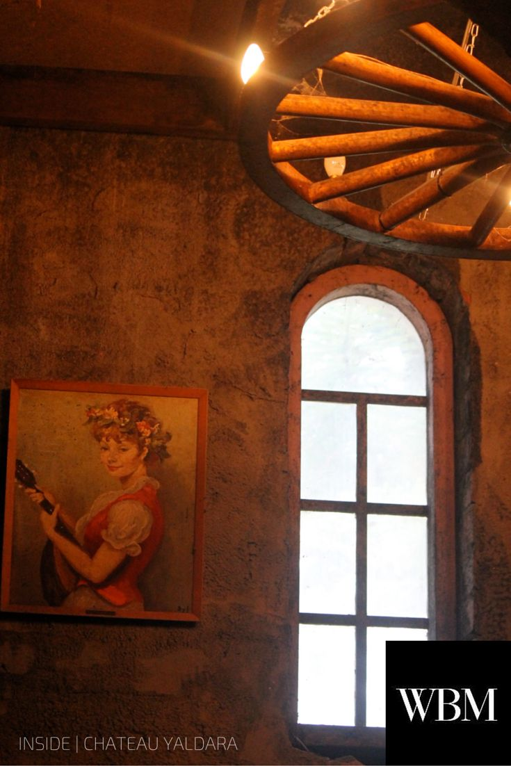 Chateau Yaldara, Barossa Valley, South Australia.   http://1847wines.com/ #Wine #CellarDoor #BarossaValley #Interior #Design #Vintage #WagonWheel #Window
