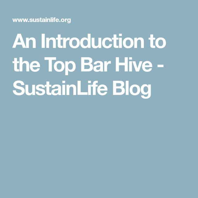 An Introduction to the Top Bar Hive - SustainLife Blog