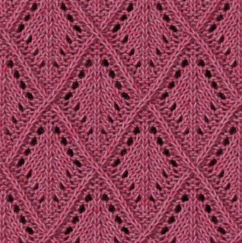 Diamond Lace Knitting Stitches : 1000+ ideas about Lace Knitting Patterns on Pinterest Lace Knitting Stitche...