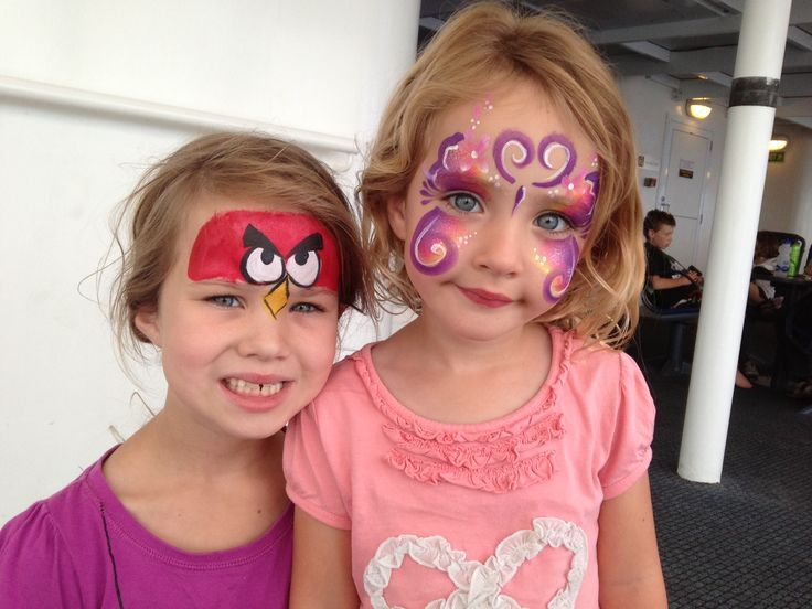 "Marc Bongers - ""Girls enjoyed their first trip on the Spirit of Tasmania with a spot of face painting along the way."""