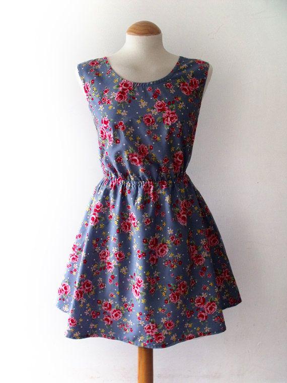 Floral summer dress flowery