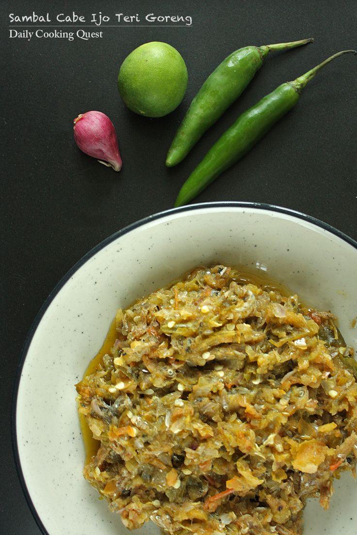 Sambal Cabe Ijo Teri Goreng – Fried Anchovies in Green Chili Sauce