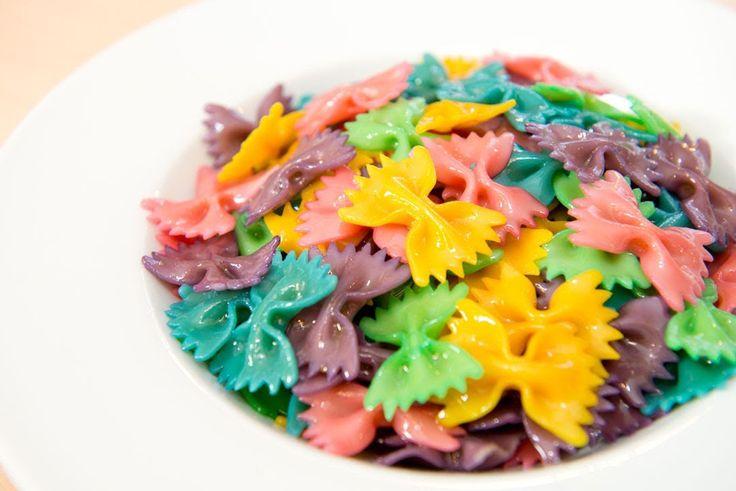 Pasta Arco Iris o Pasta de Colores, Rainbow Pasta