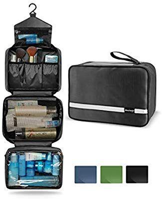 Amazon.com   Mens Travel Toiletry Bag, Maxchange Hanging Toiletry Bag    Foldable Bathroom Kit with 6.8L Capacity for Men Women   4 Layers Portable  ... 99195cc22c