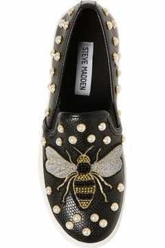 Alternate Image 5 - Steve Madden Polly Bee Embellished Slip-On Platform Sneaker (Women)