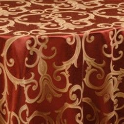 Chopin Redwood Scroll Damask