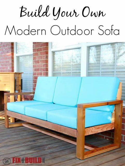 How to build a DIY Modern Outdoor Sofa with minimal tools from attractive cedar boards. See all the steps with plans and a how to video available.