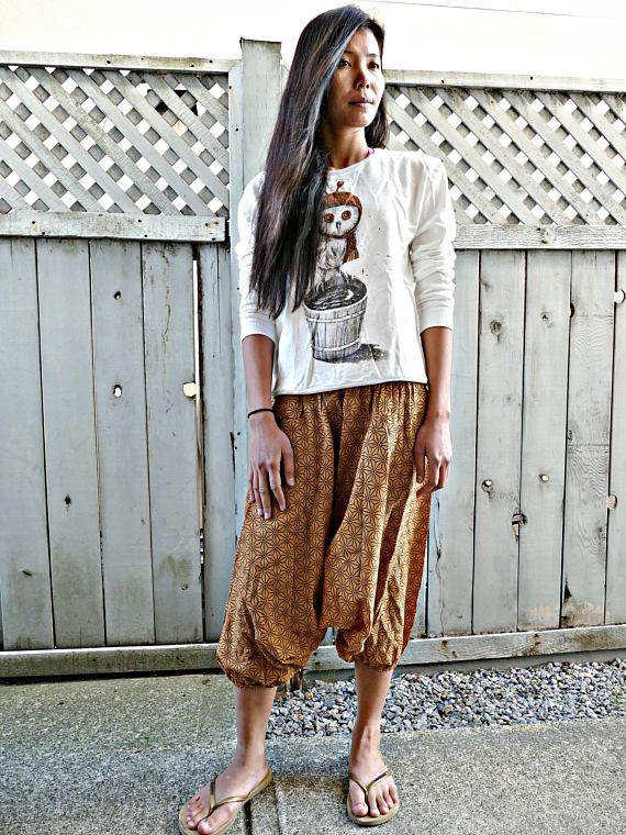 Orange Colour Short Harem Pants #fashion #shopping #harempants #joggers #style #love
