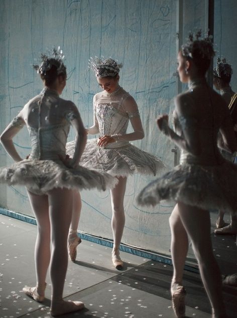 Artists of the Ballet backstage at The Nutcracker. Photo by Bruce Zinger.