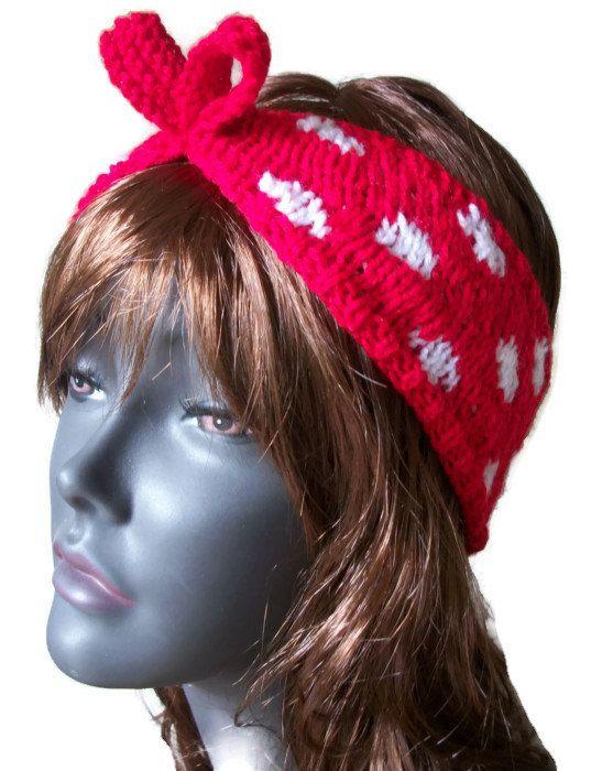 Rockabilly Hairband in Red Polka, Black Polka, £10.99