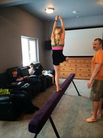 how to build a balance beam at home