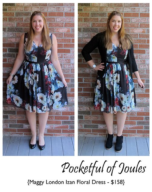 Stitch Fix Review - Maggy London Izan Floral Dress - Pocketful of Joules