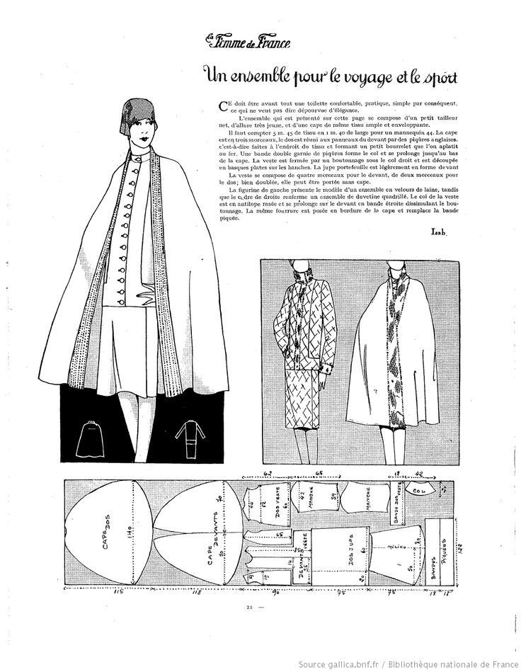 free vintage sewing pattern / La Femme de France [