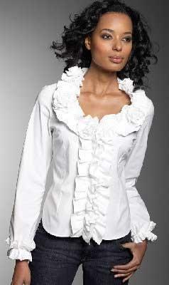 Блузка романтическая