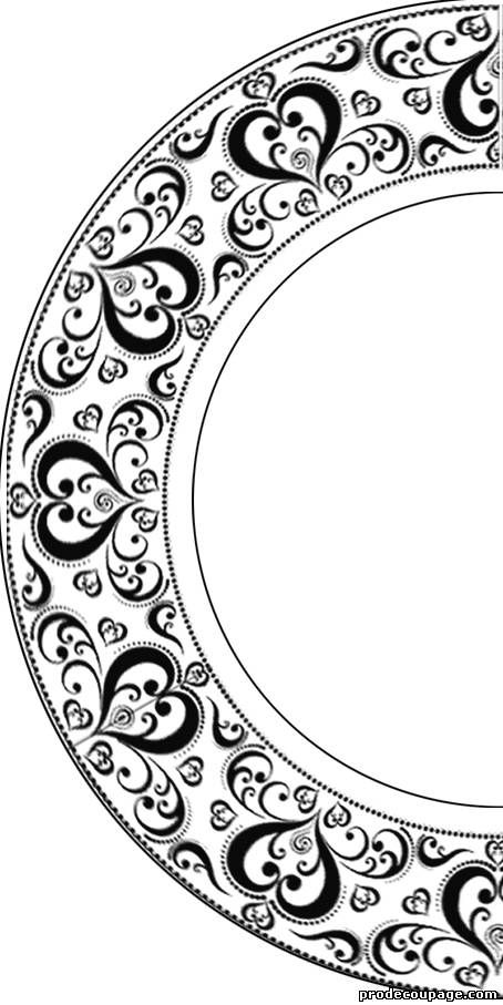 Пасхальные тарелочки-картинки для декупажа и трафареты для росписи - автор…