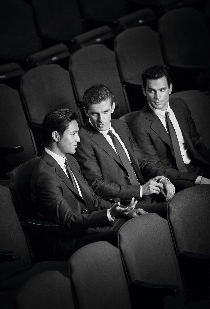 The new Giorgio Armani Made to Measure campaign featuring Matt Bomer, Dan Stevens & Chen Kun, shot by John Balsom.