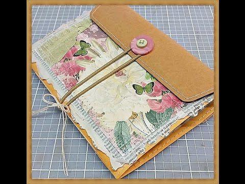 Envelope clasp vintage style journal ((SOLD)) #junkjournals #junkjournaljunkies - YouTube