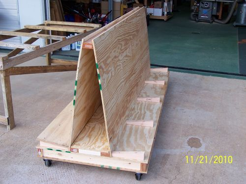Plywood Storage Cart #1: Plywood/Lumber cart musings - or How I would like to clean my garage!