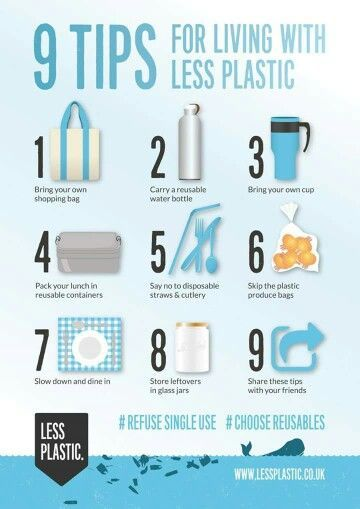 Personal Life: These are 9 tips for living with less plastic. Plastic is one of the most commonly found items in landfills and in the ocean. These tips are very easy to follow and can benefit everyone.
