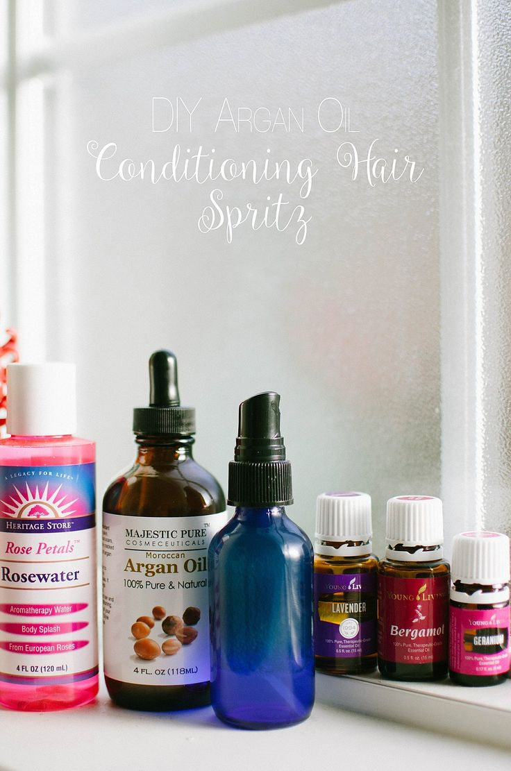 DIY Argan Oil Conditioning Hair Spritz with essential oils