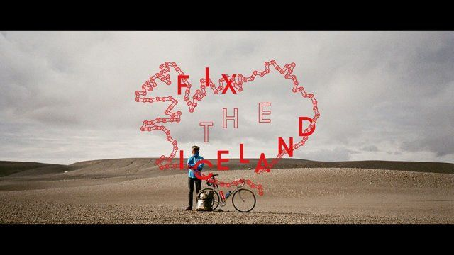 """First attempt to cross the Iceland on fixed gear bikes""   Expedition members 